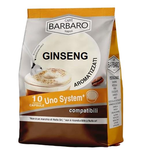 Caffè Barbaro Ginseng Solubile Barbaro - 10 Capsule Compatibili Uno System Da 7g