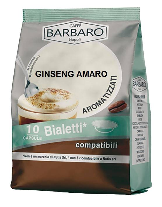 Caffè Barbaro Caffè Ginseng Barbaro - 10 Capsule Compatibili Bialetti Da 6.3g