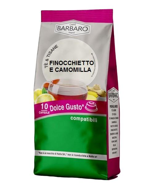 Caffè Barbaro Tisana Finocchietto E Camomilla Barbaro - 10 Capsule Compatibili Dolce Gusto Da 3.5g