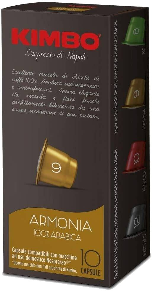 Kimbo Caffè Armonia - 10 Capsule Compatibili Nespresso Da 5.5g