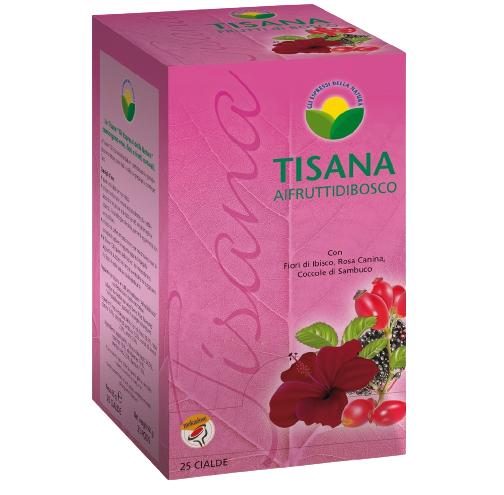 Caffè Molinari Infuso Molinari Ai Frutti - Fiori Di Ibisco, Rosa Canina, Coccole Di Sambuco - Box 25 Cialde Ese44 Da 2.6g