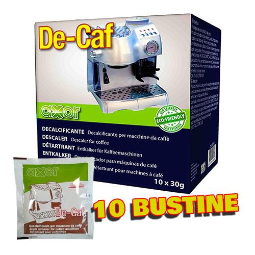 Axor De-Caf - Box 10 Bustine Decalcificante Per Macchine Da Caffè