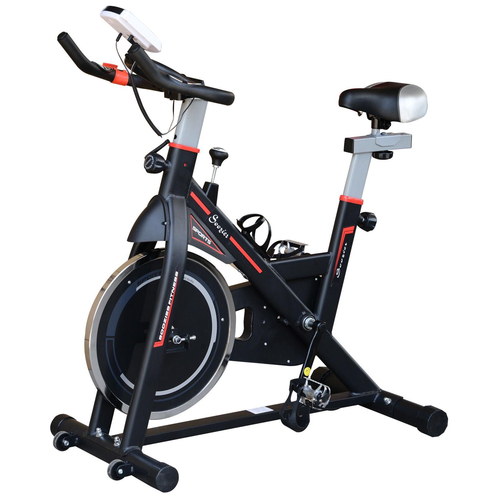 HOMCOM Cyclette Allenamento Aerobico da Casa Professionale in Acciaio, Nero