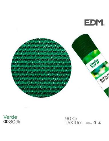 Edm Product Rete Ombreggiante Frangivista 1,5x10 Metri Verde 90gr/mq