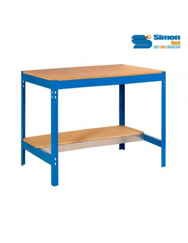 simon rack banco da lavoro bto 842x910x610 mm senza viti 2 ripiani in legno portata 650 kg