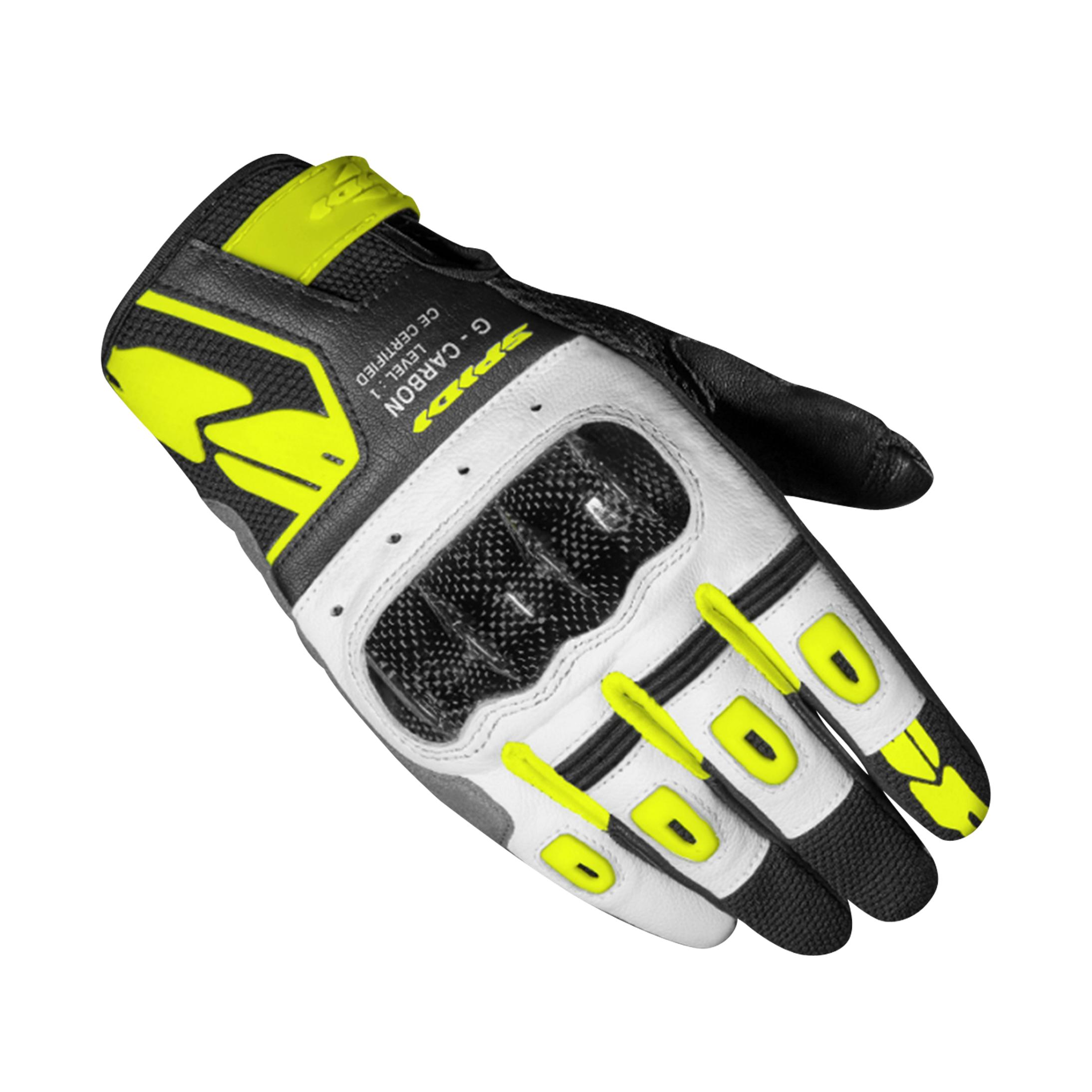 spidi guanti donna  g-carbon giallo fluo