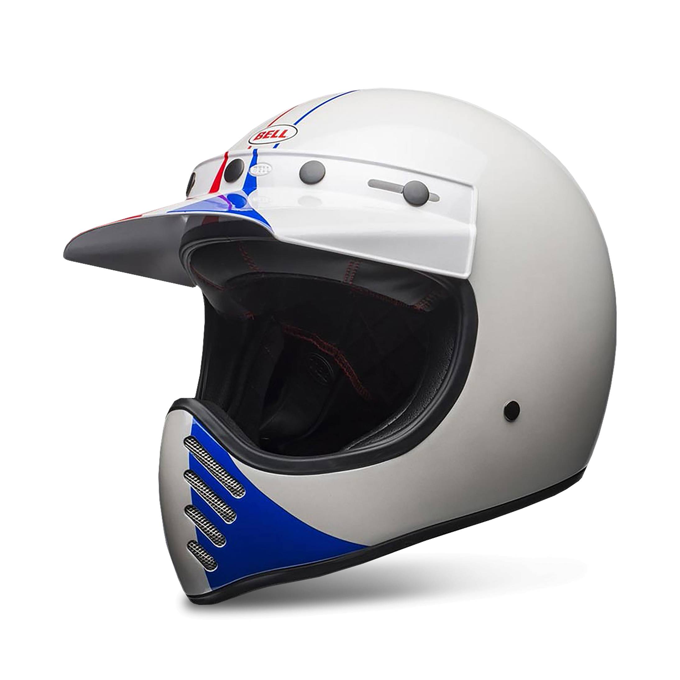 bell casco integrale  moto-3 ace gp66 bianco-rosso