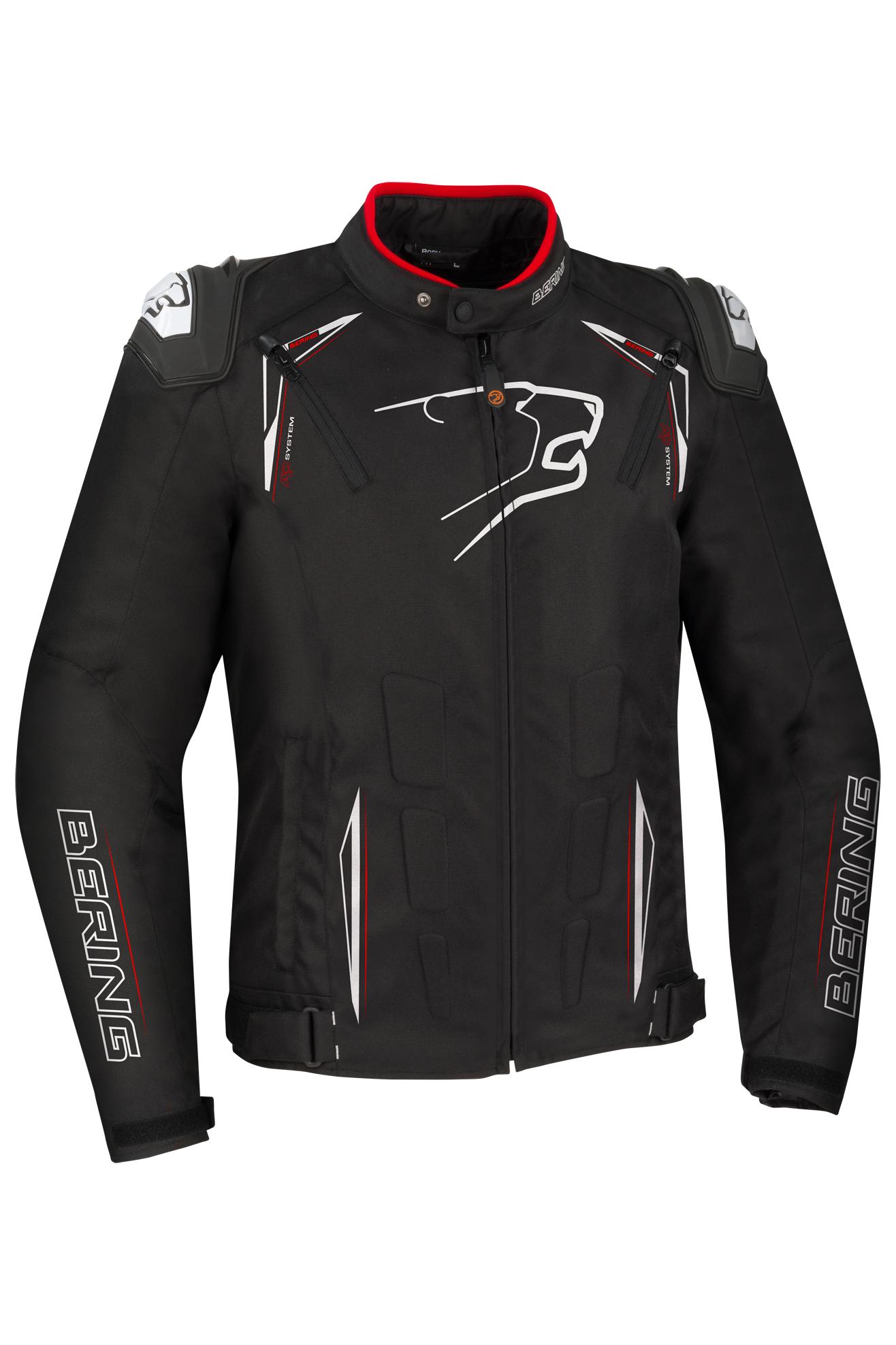 bering giacca moto  start-r nero-bianco-rosso