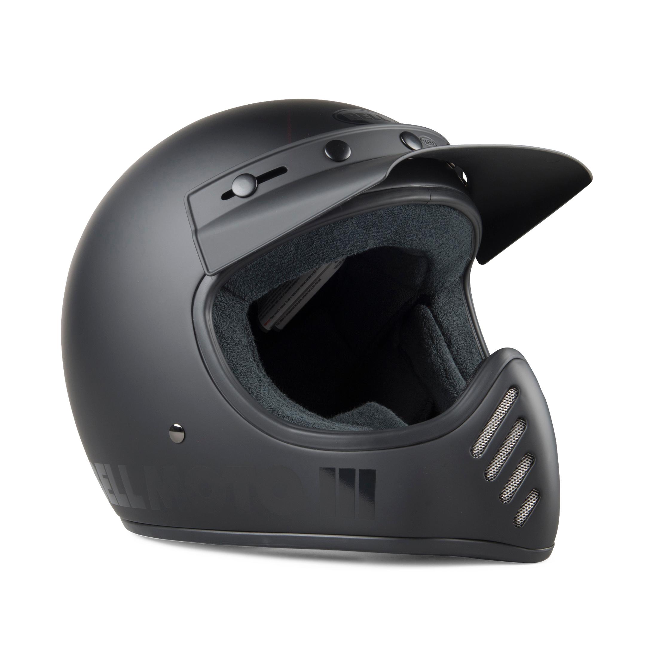 bell casco cross  moto-3 blackout nero