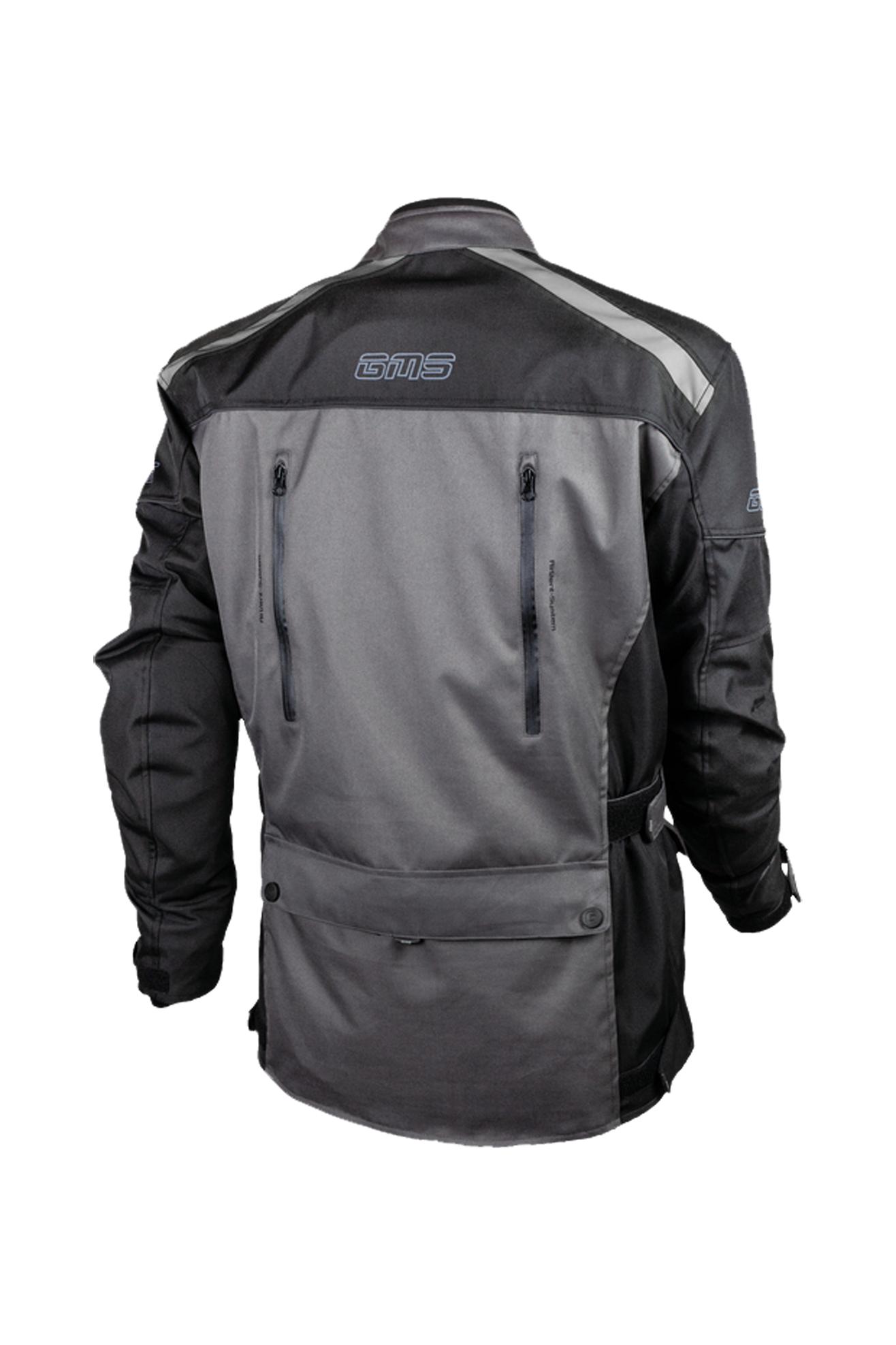 gms giacca moto  temper grigia