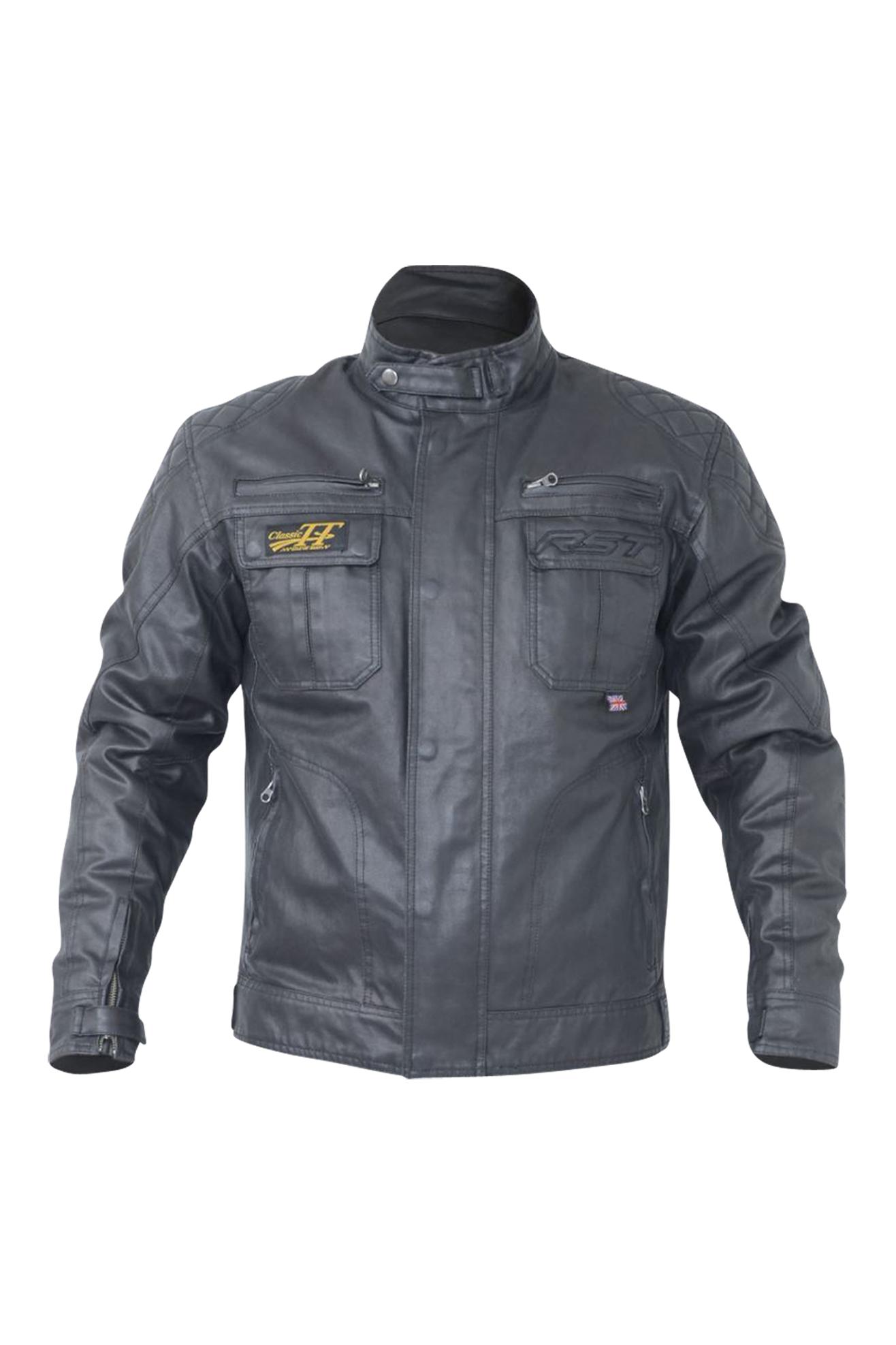 rst giacca moto  classic tt wax ii nera