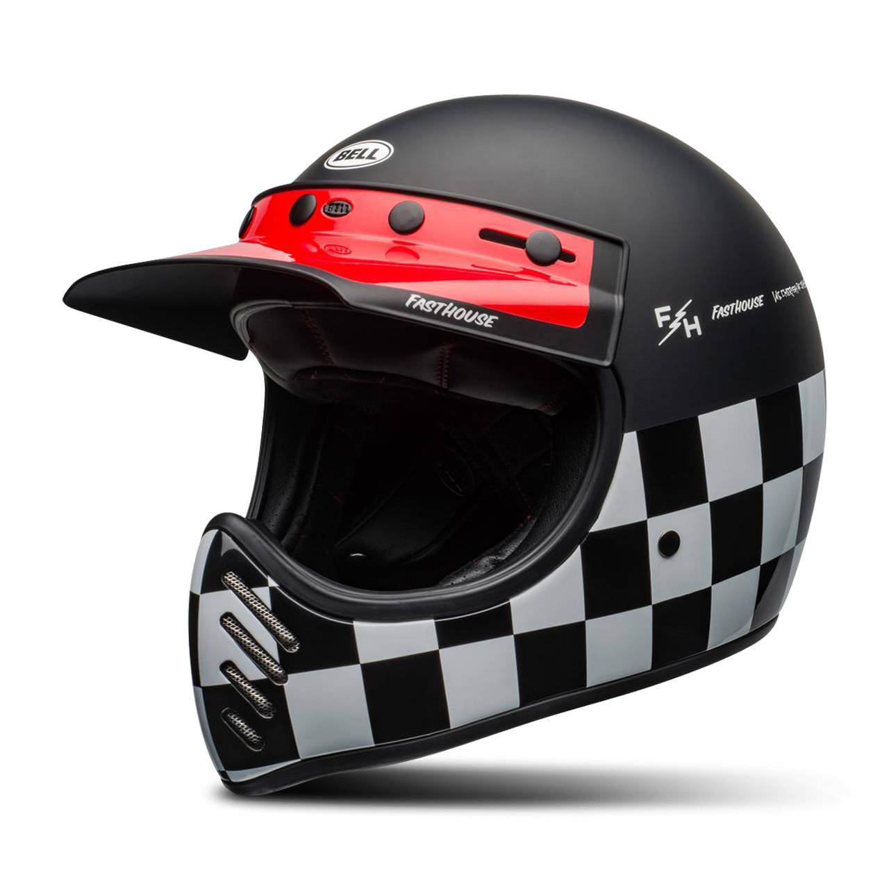 bell casco integrale  moto-3 fasthouse checkers