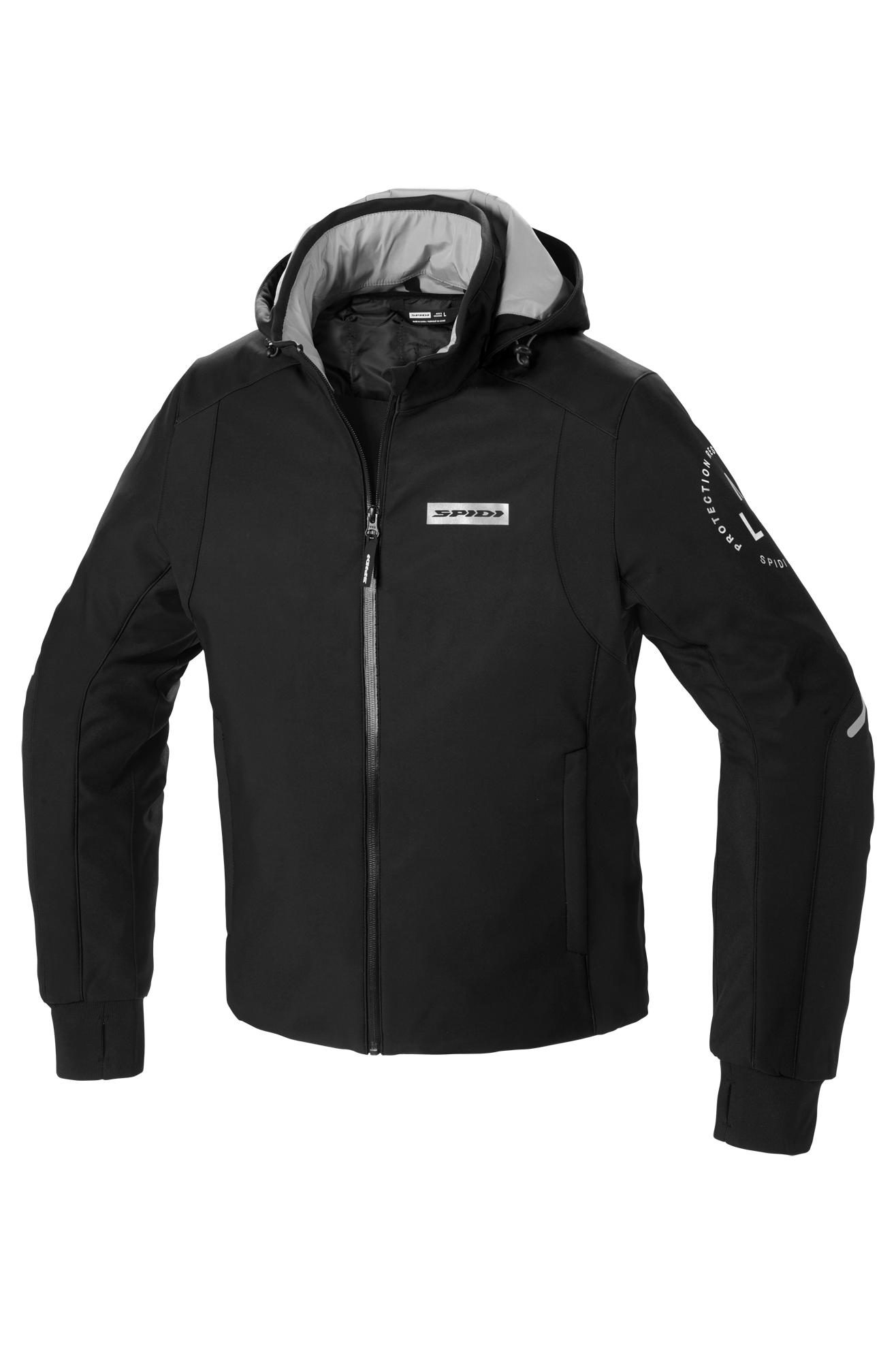 spidi giacca moto  hoodie armour h2out® nero-bianco