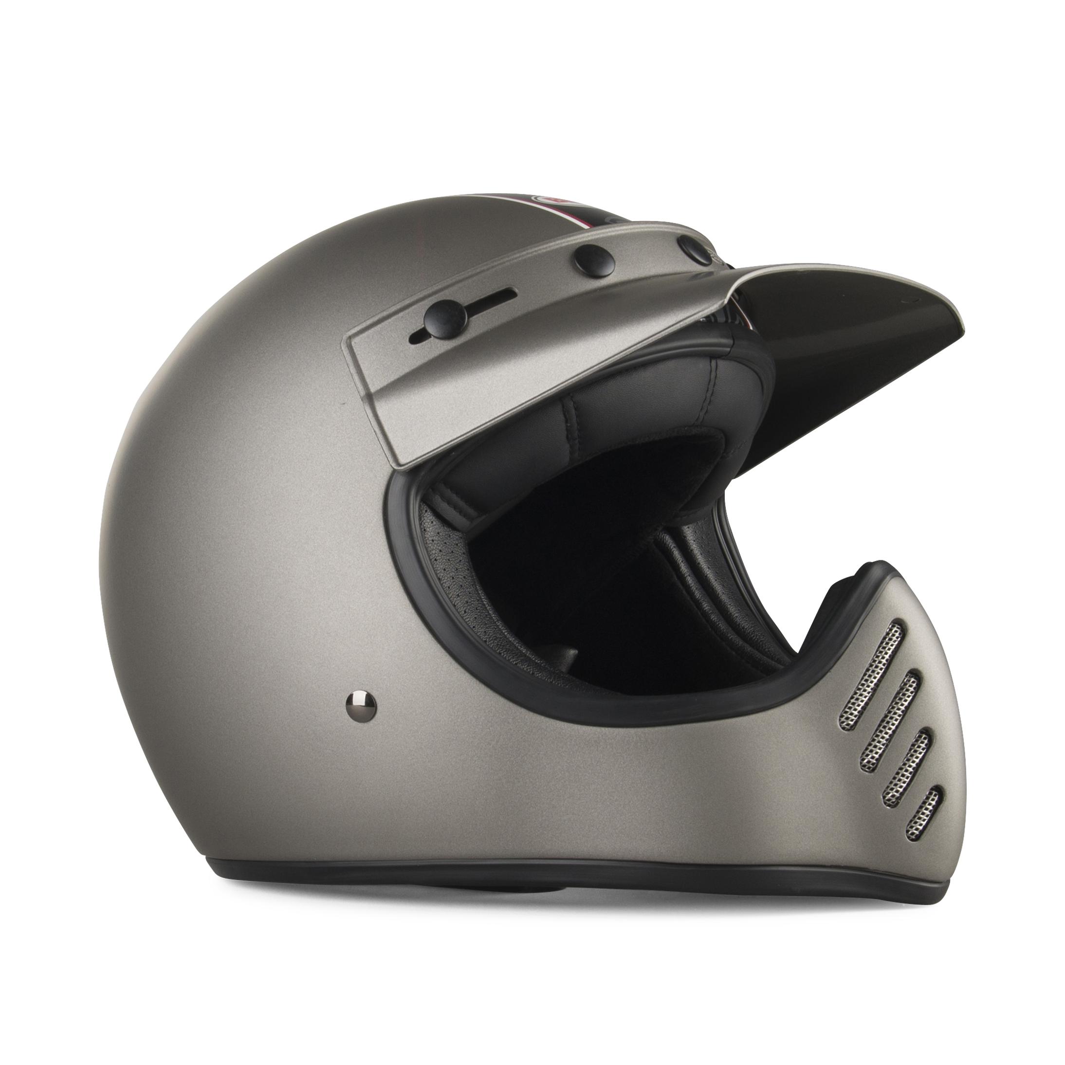 bell casco  moto 3 independent titanio opaco
