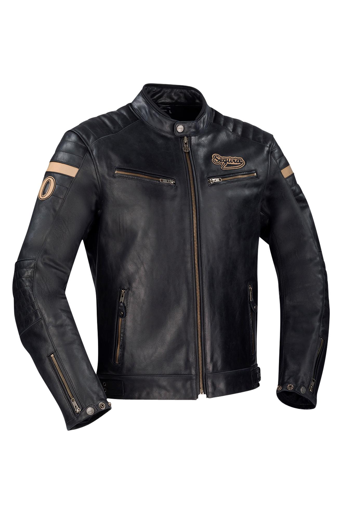 segura giacca moto  mortymer nera