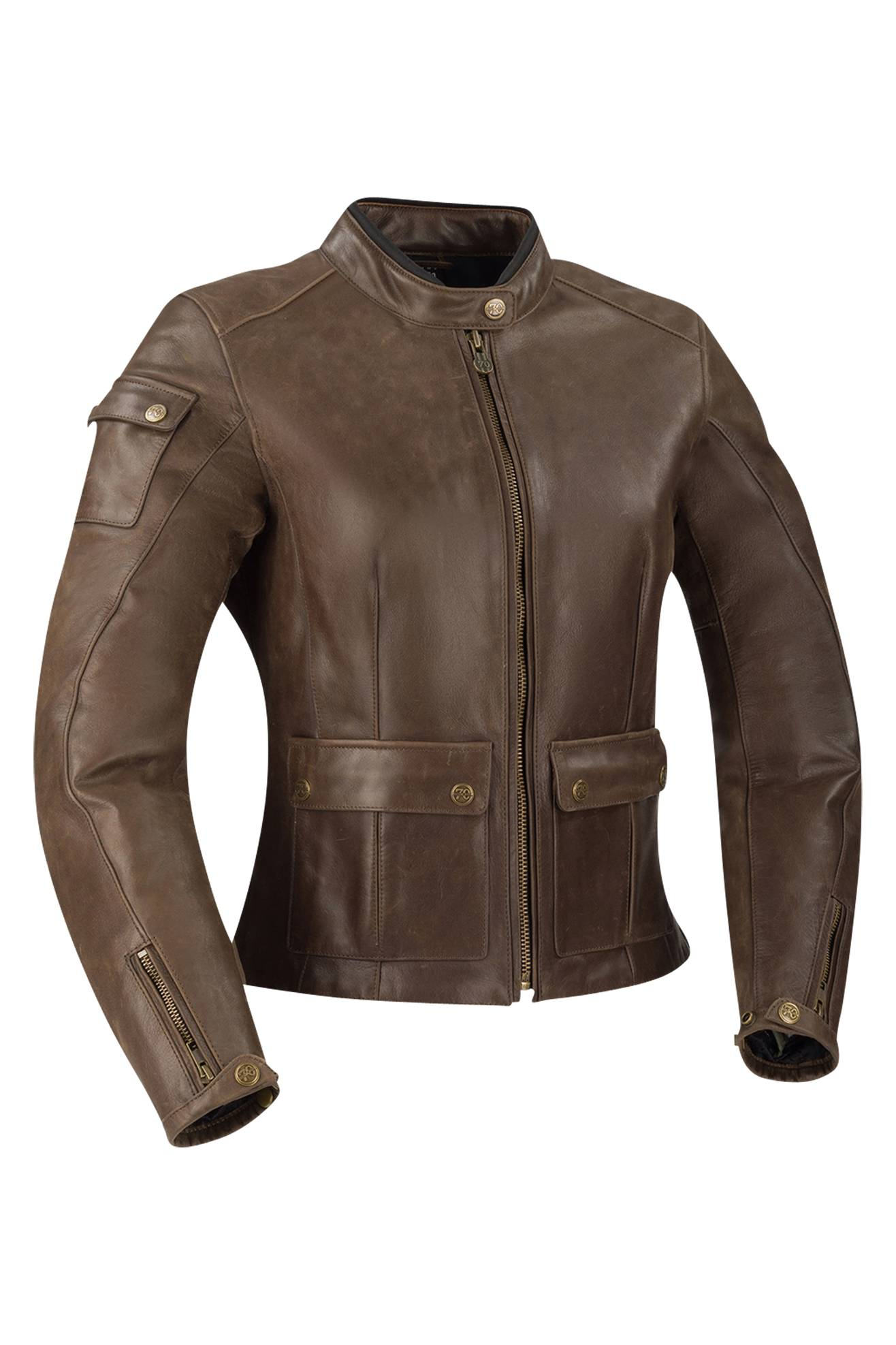 segura giacca moto donna  babylon marrone