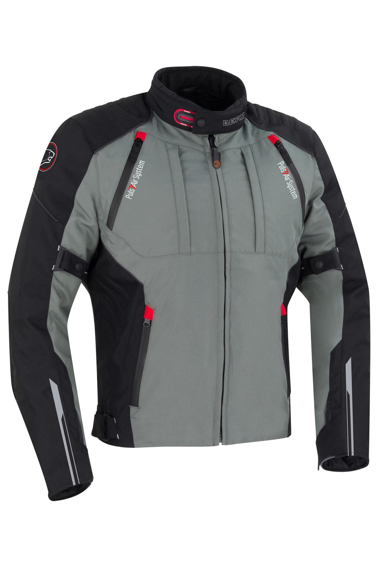 bering giacca moto  shamal nero-grigio
