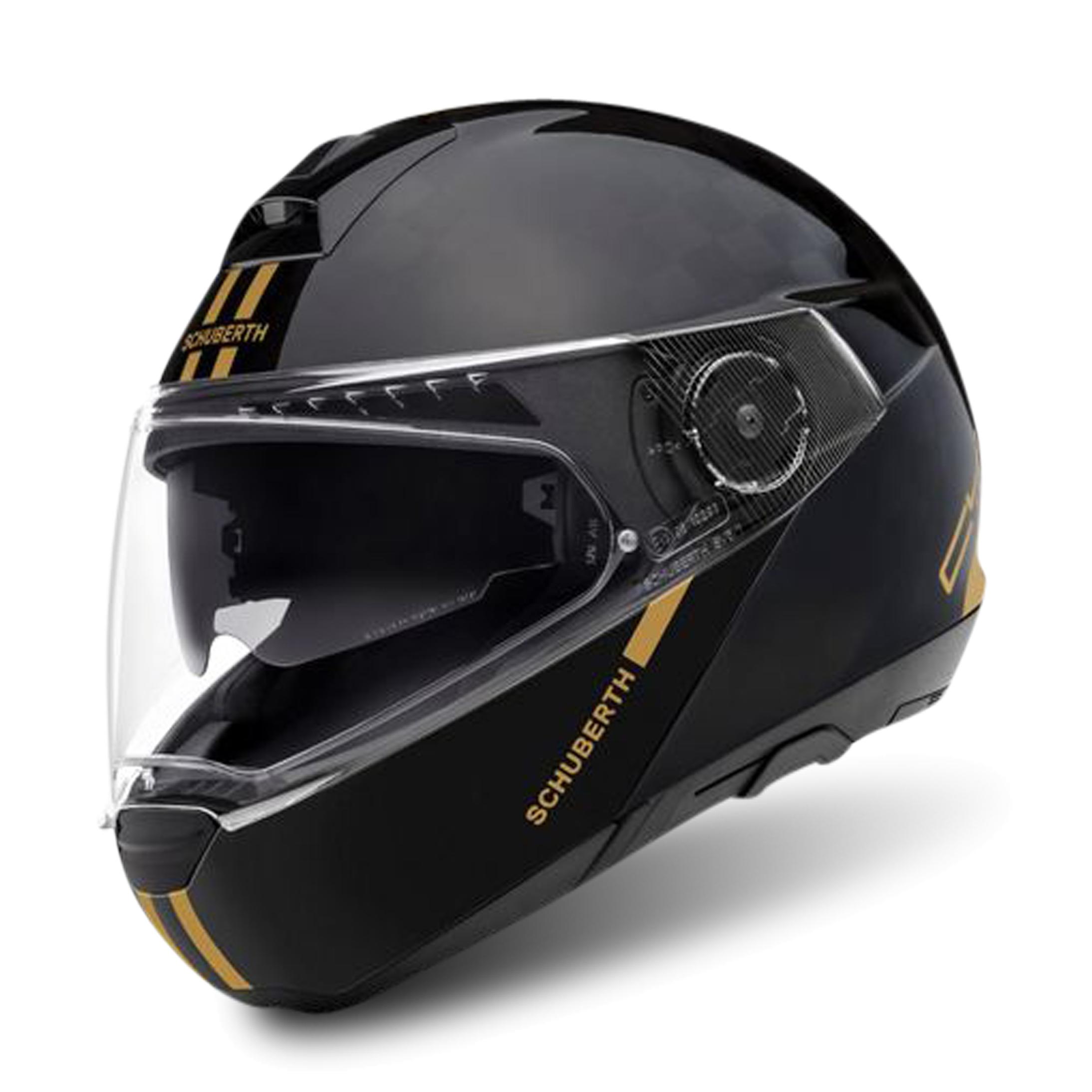 schuberth casco modulare  c4 pro carbon fusion nero-oro