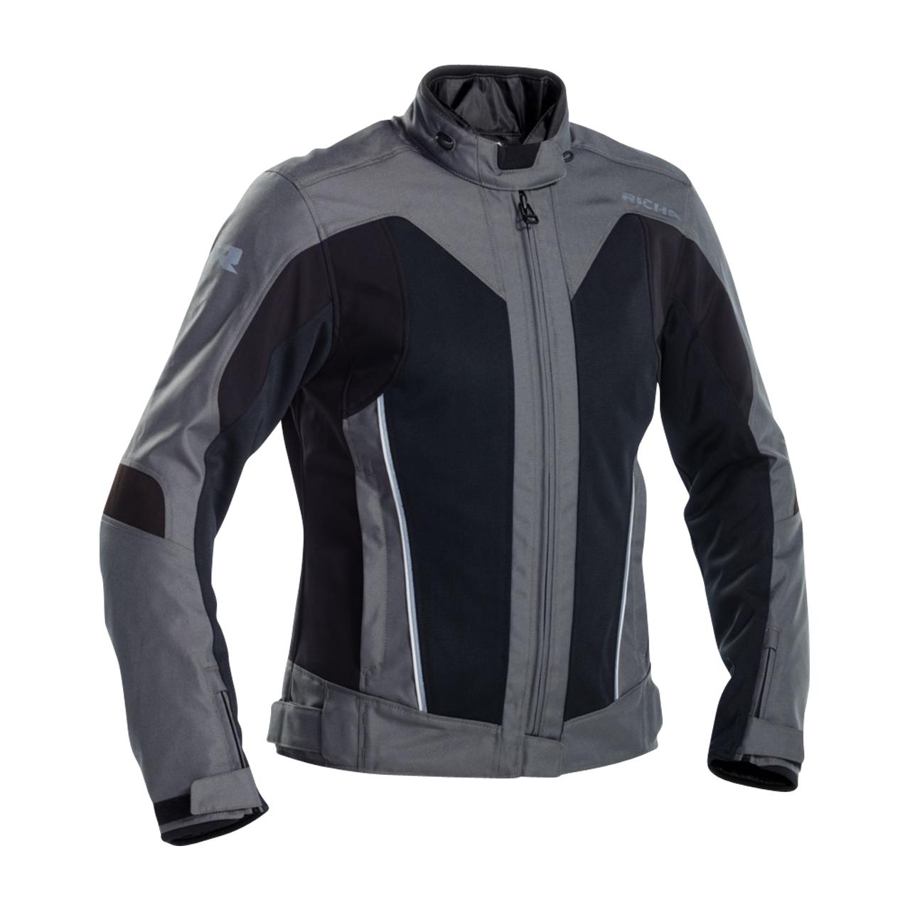 richa giacca moto donna  airstream-x titanio