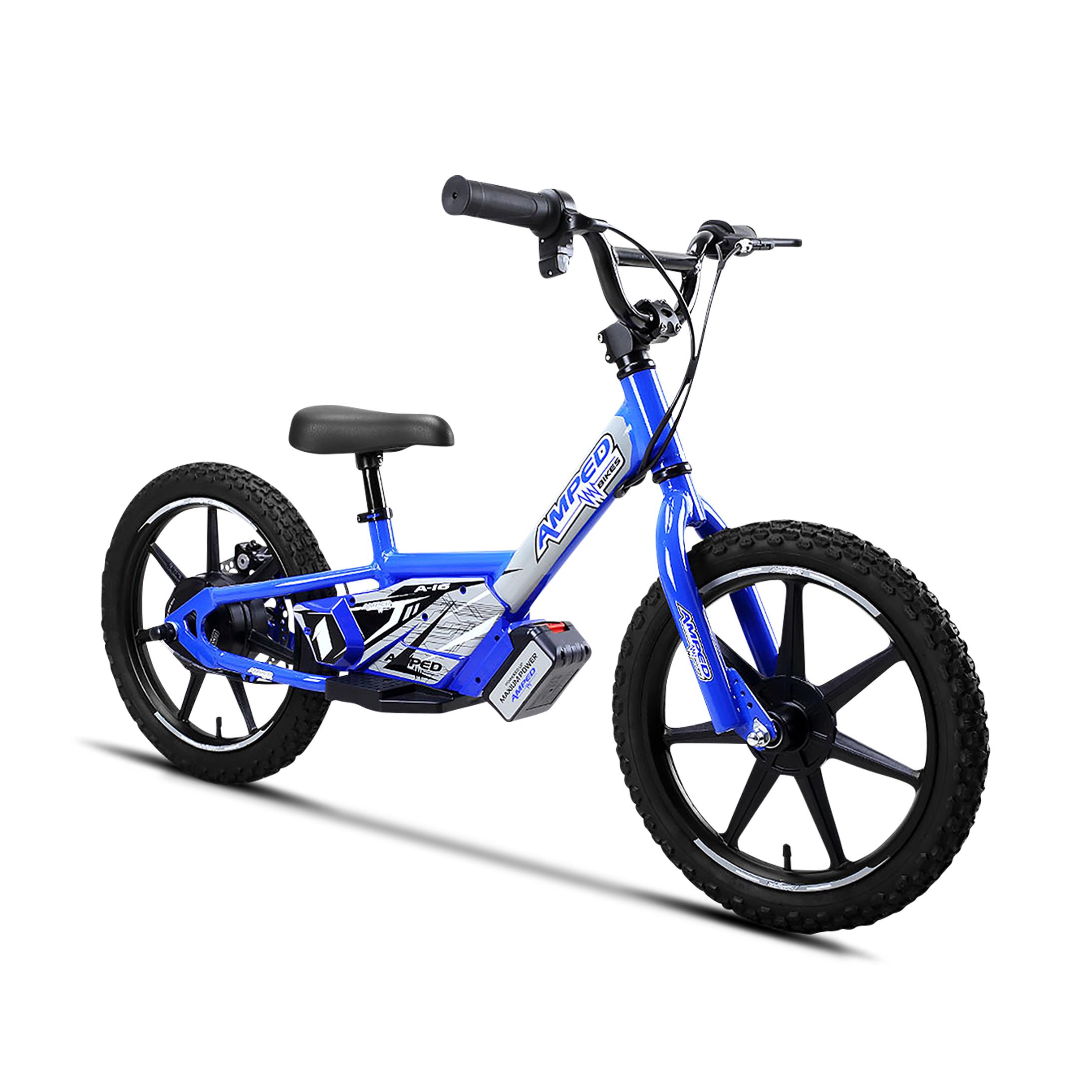 amped bici elettrica senza pedali  a16 blu