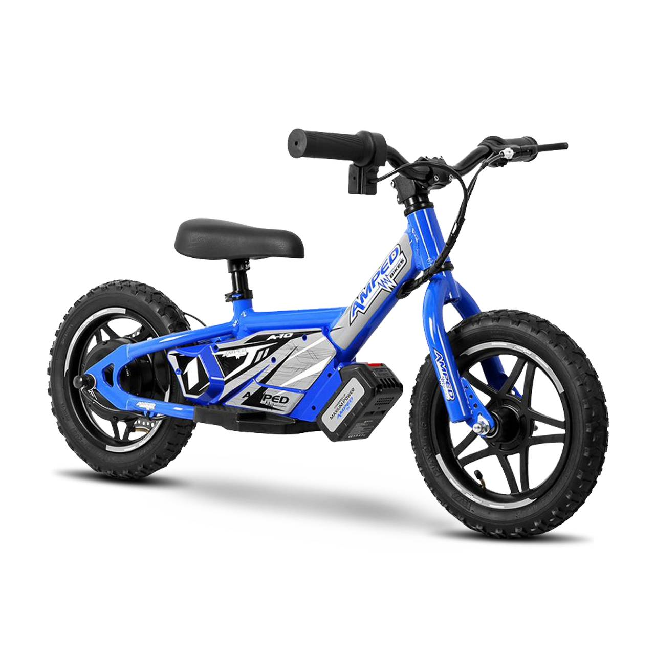 amped bici elettrica senza pedali  a10 blu
