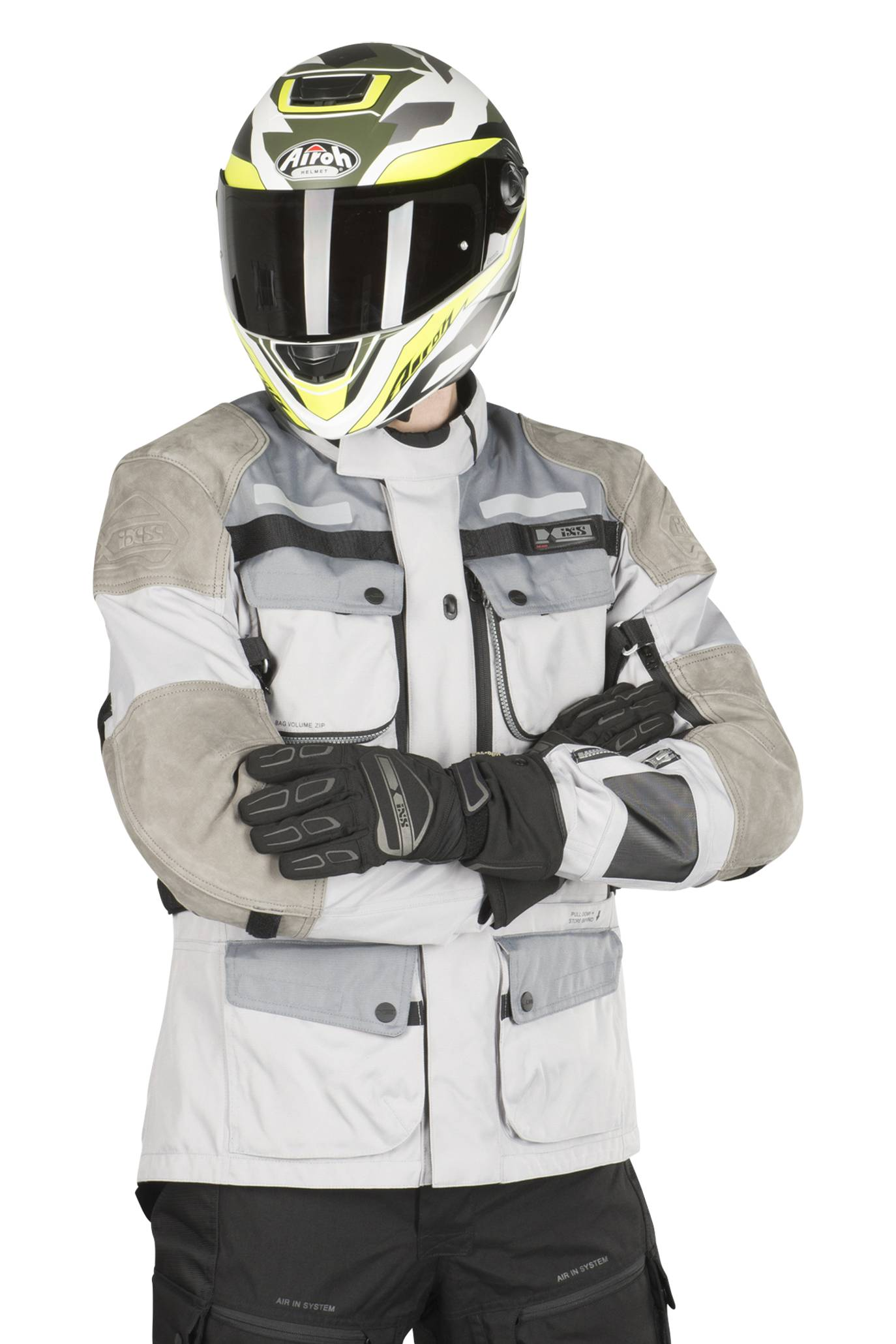 ixs giacca moto  tour lt montevideo-air 2.0 grigia