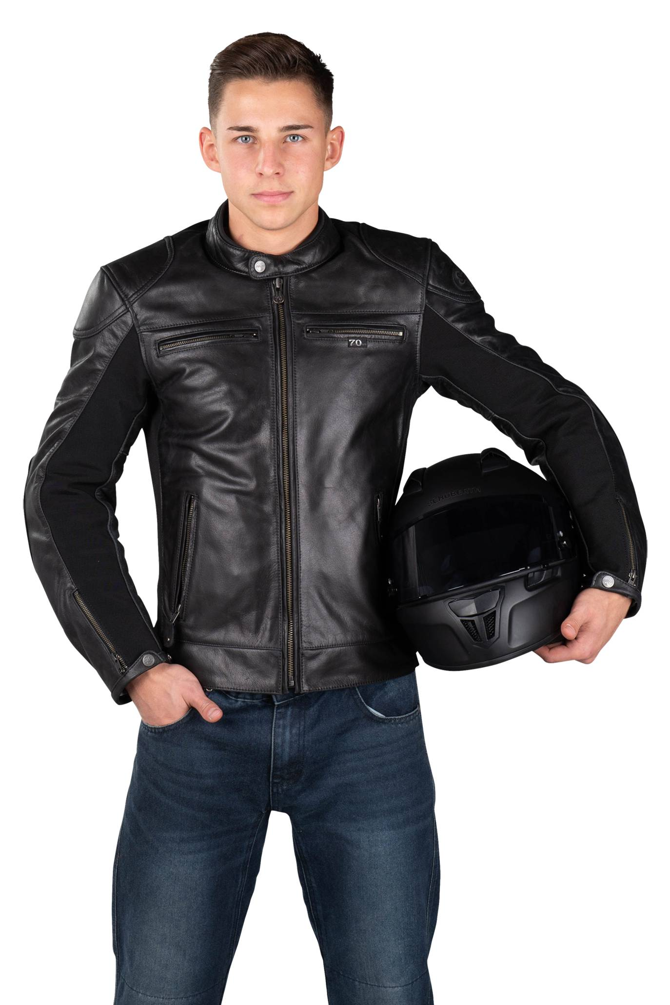 segura giacca moto  kroft nera
