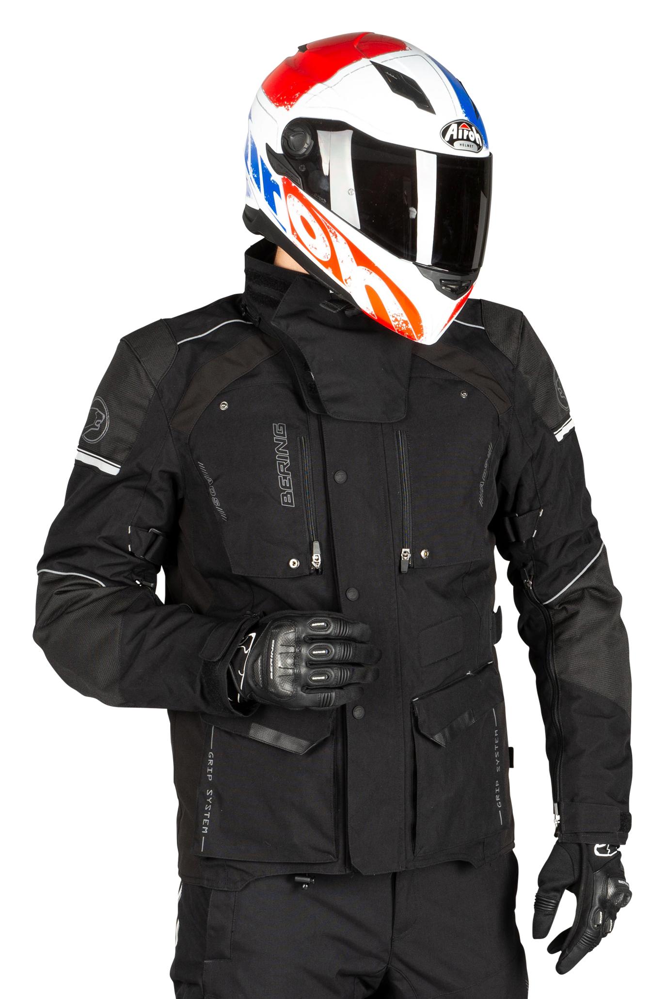 bering giacca moto  bronko nera