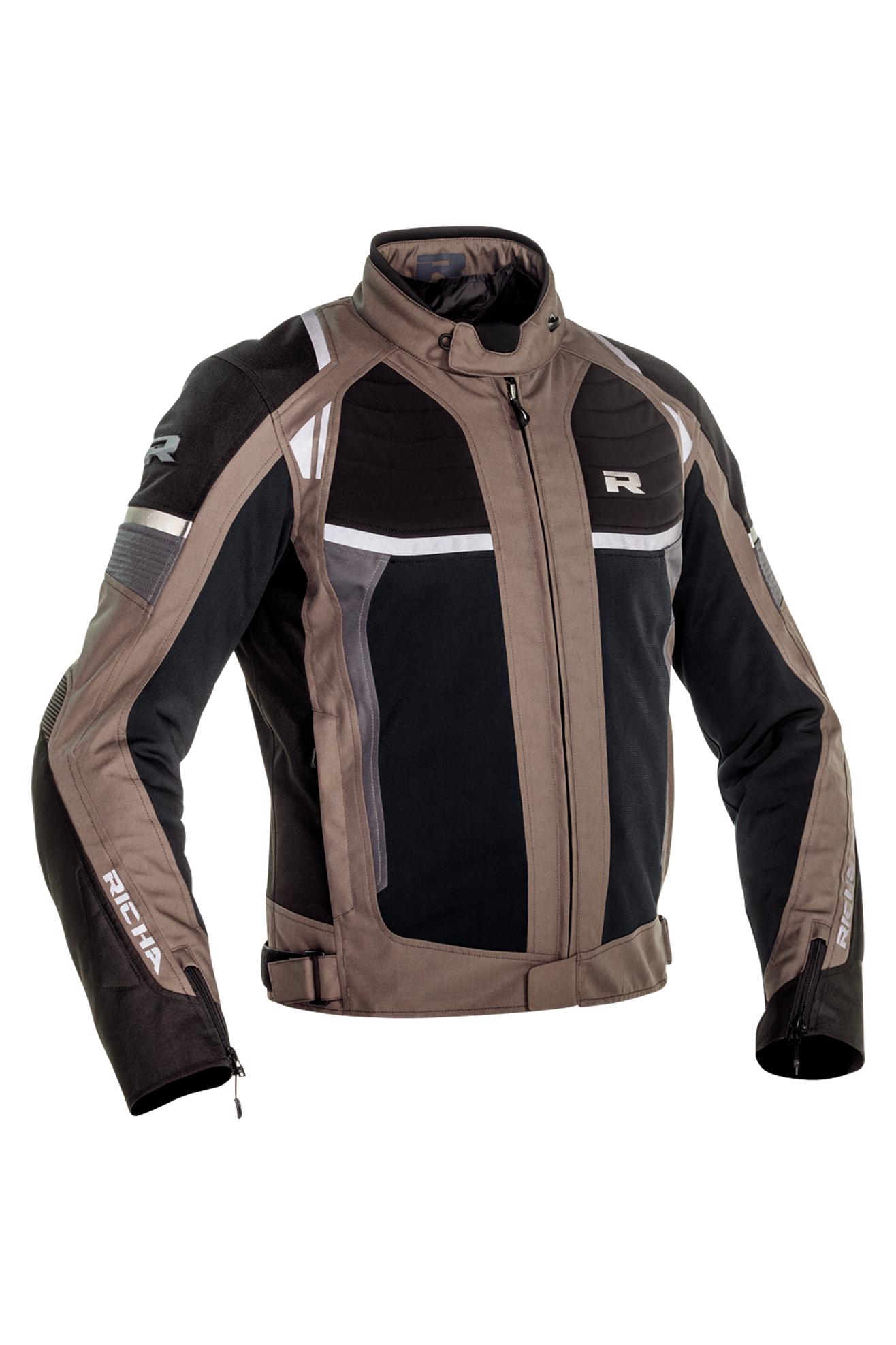 richa giacca moto  airstream-x marrone-beige