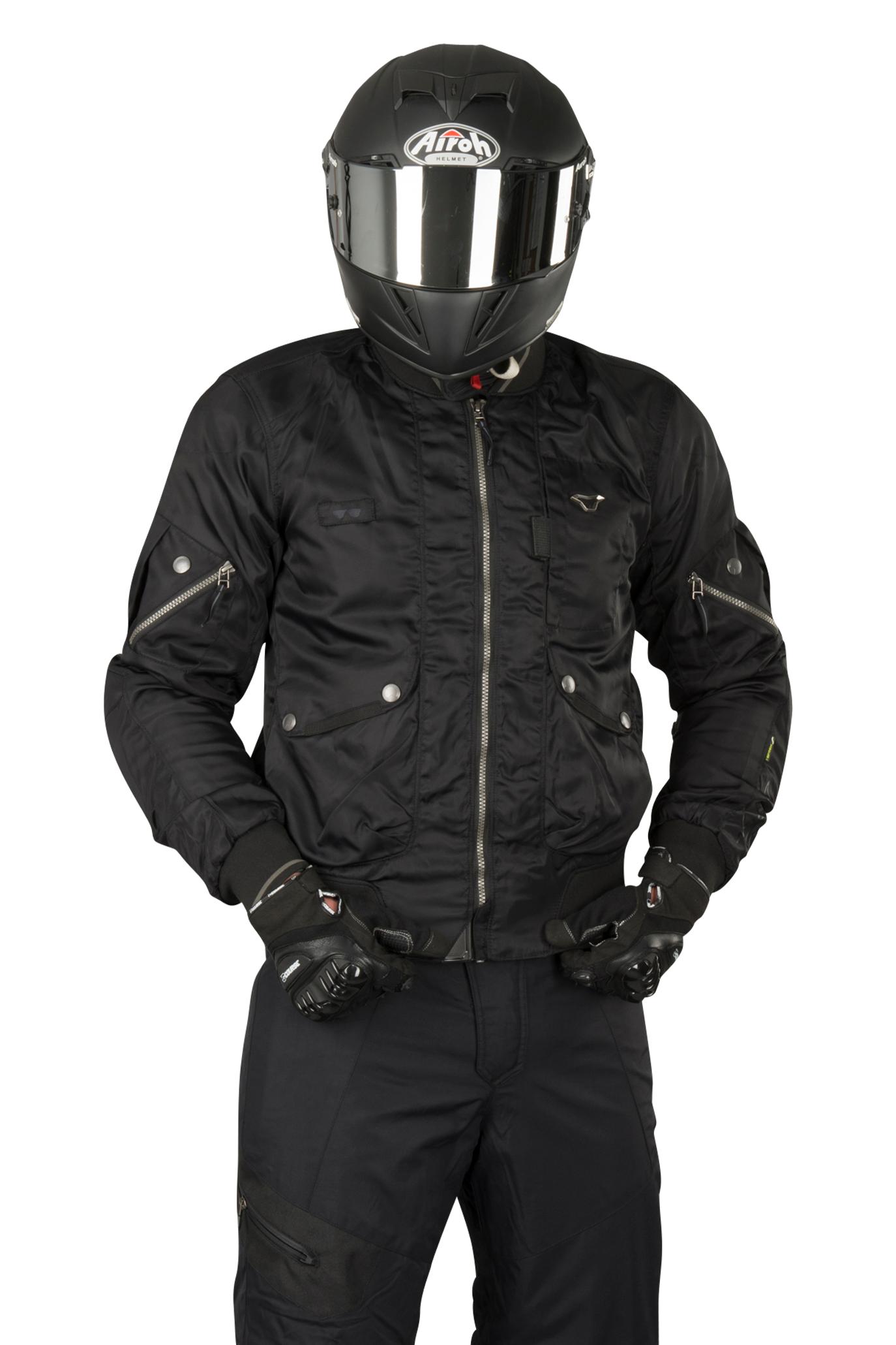 macna giacca moto  bastic nera