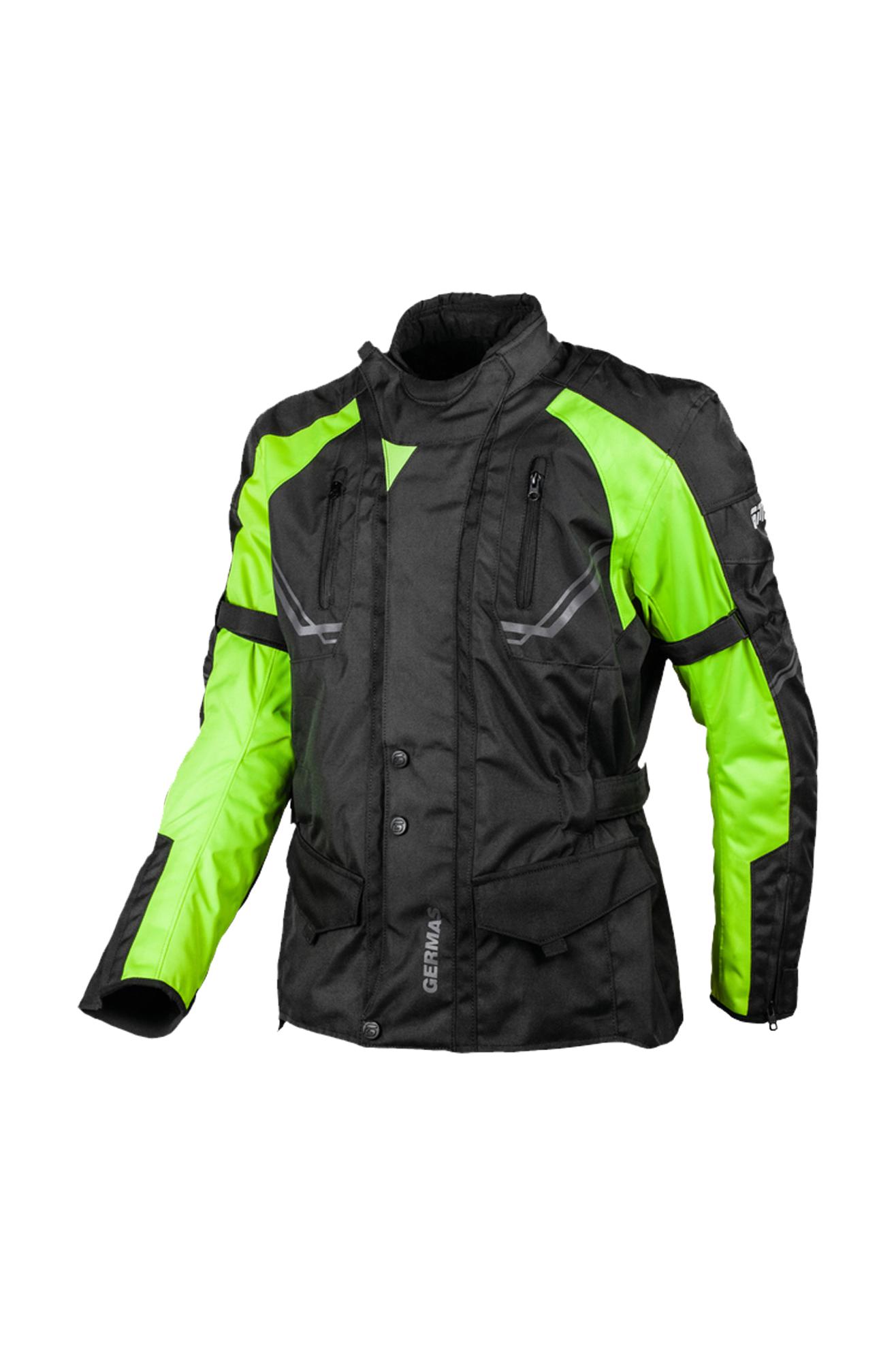 gms giacca moto  taylor nero-giallo