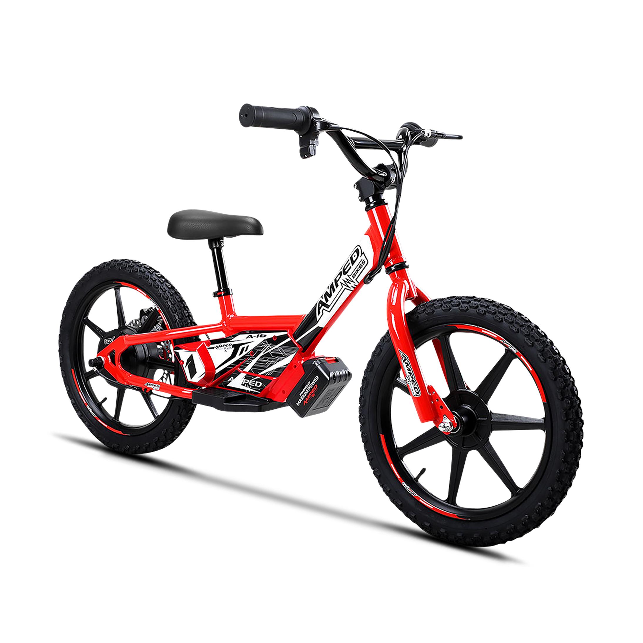 Amped Bici Elettrica Senza Pedali  A16 Rossa