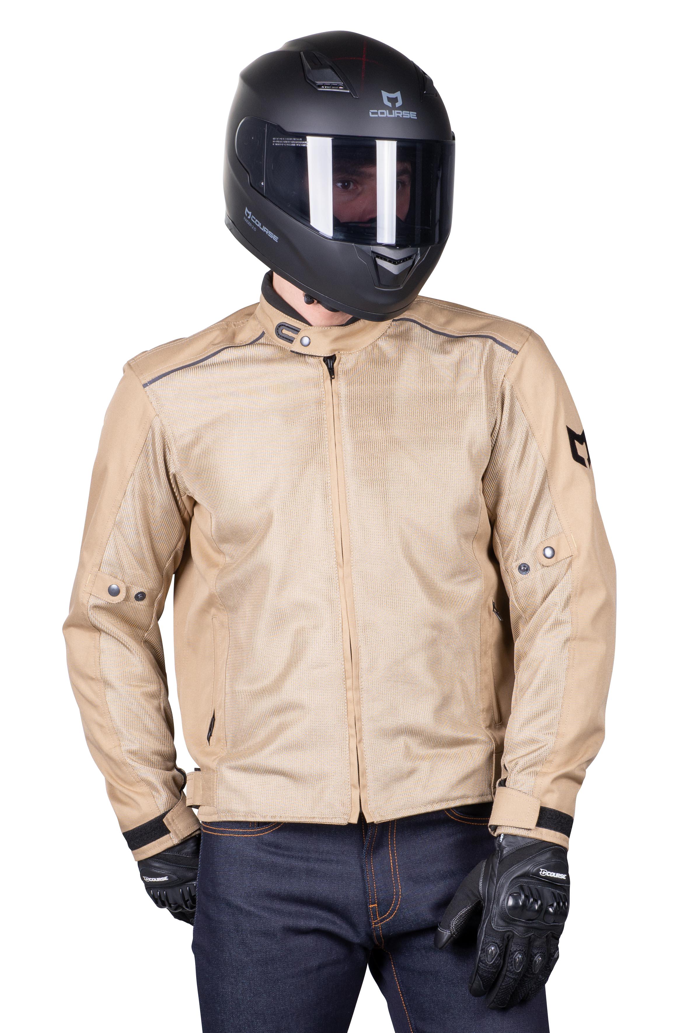 Course Giacca Moto Vento Mesh Sabbia