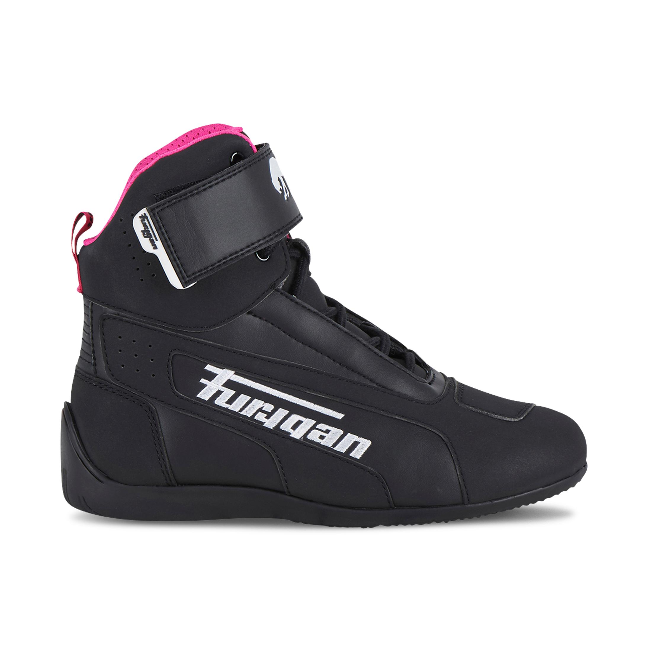 Furygan Scarpe Moto Donna  Zephyr D3O Nero-Bianco-Rosa