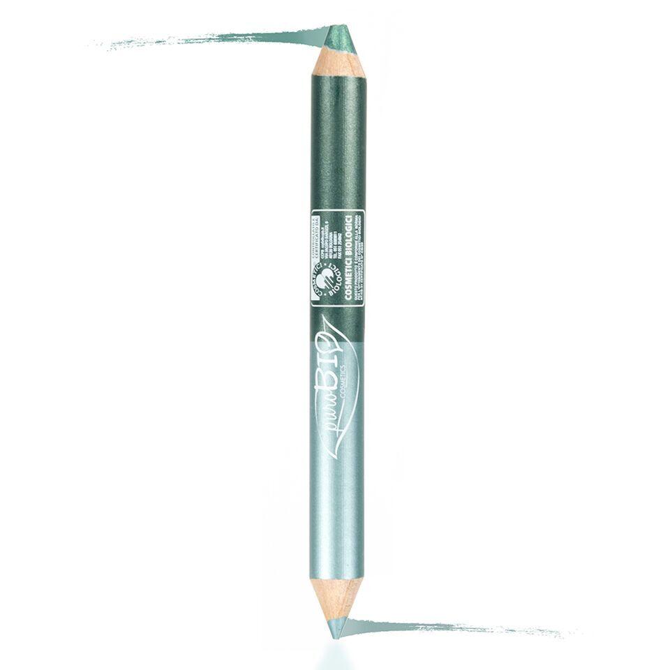 purobio cosmetics purobio matitone duo occhi night (kajal ottanio – ombretto verde smeraldo)