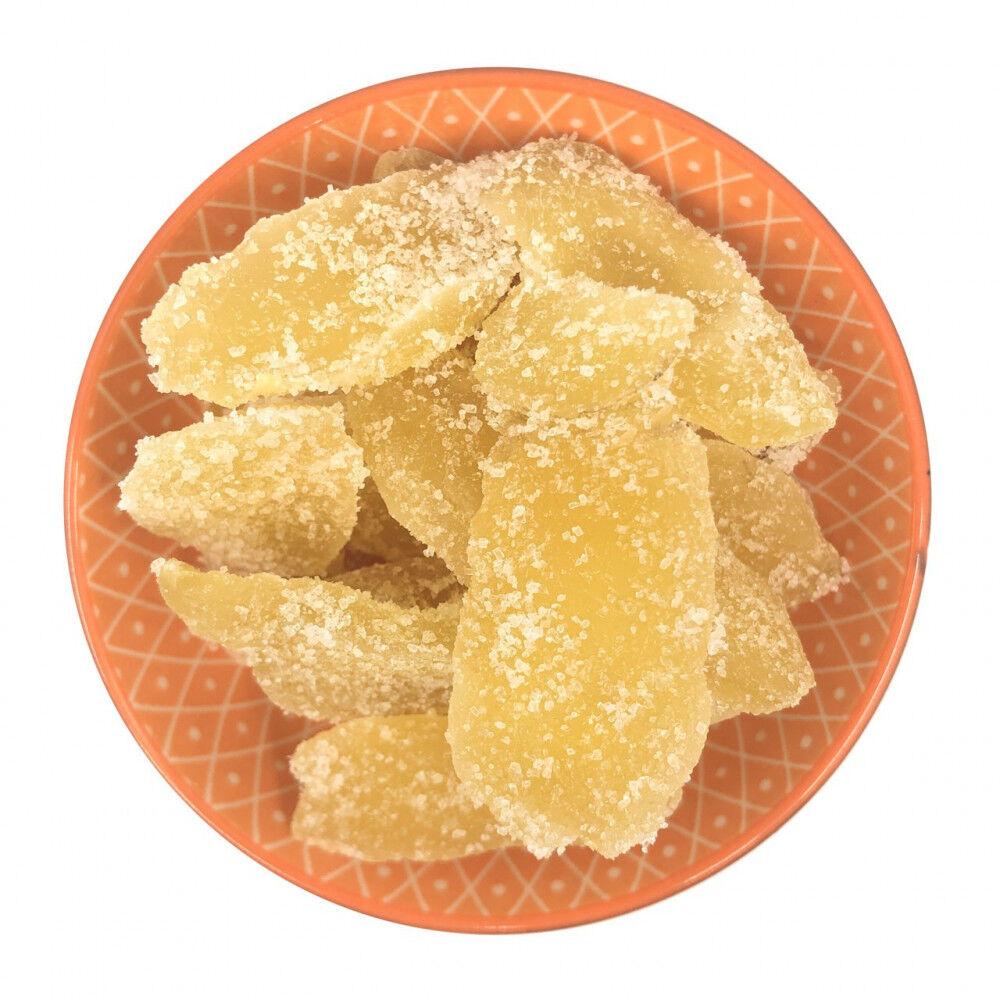 zenzero disidratato con zucchero cristallizzato a fette 2kg