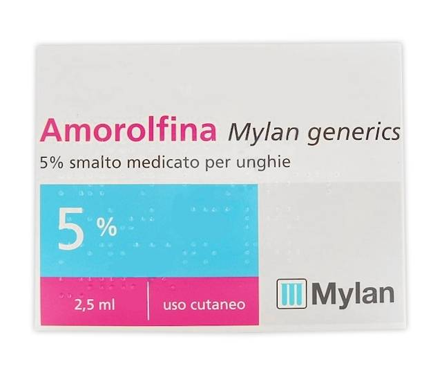 MYLAN SpA Amorolfina My*smalto 2,5ml 5%