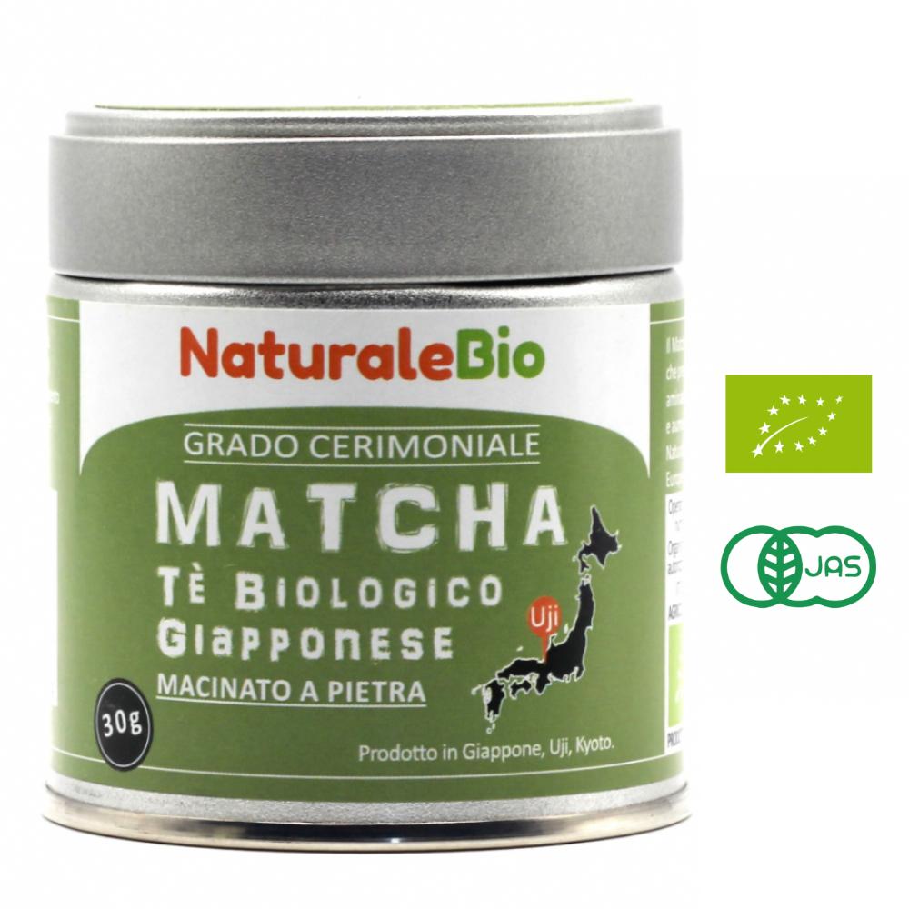 NaturaleBio Tè Verde Matcha Biologico in Polvere 30 gr Grado Cerimoniale Giapponese