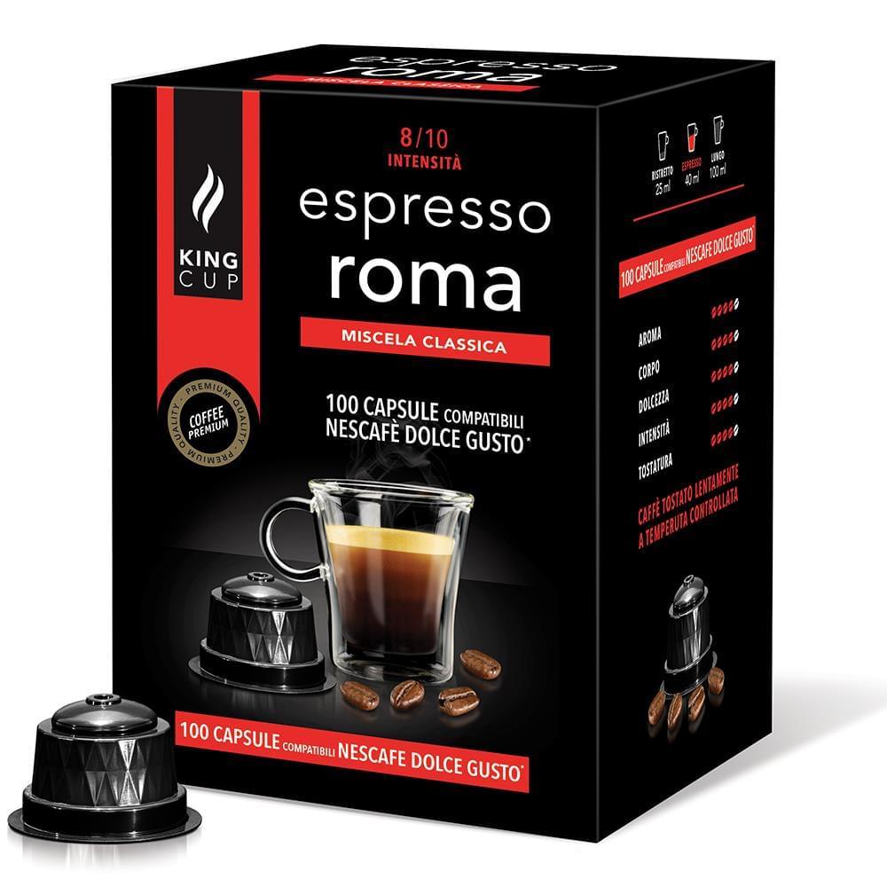 King Cup 100 capsule compatibili nescafè dolce gusto - caffè espresso roma