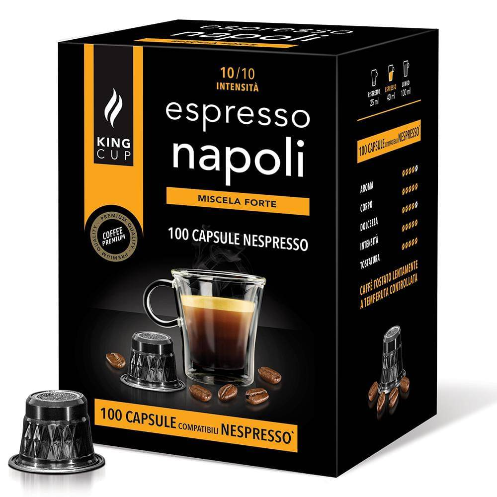 King Cup 100 capsule compatibili nespresso - caffè espresso napoli
