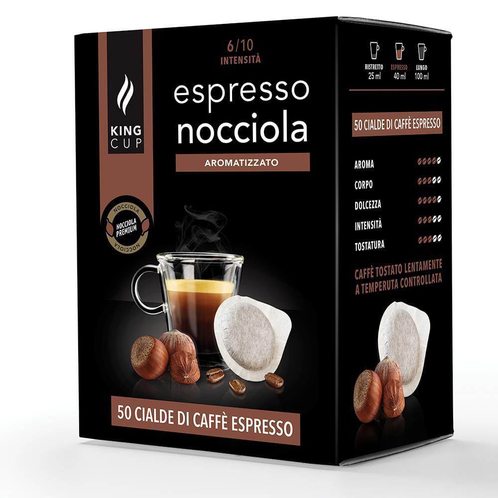 King Cup Caffè con nocciola - 50 cialde e.s.e. 44 mm
