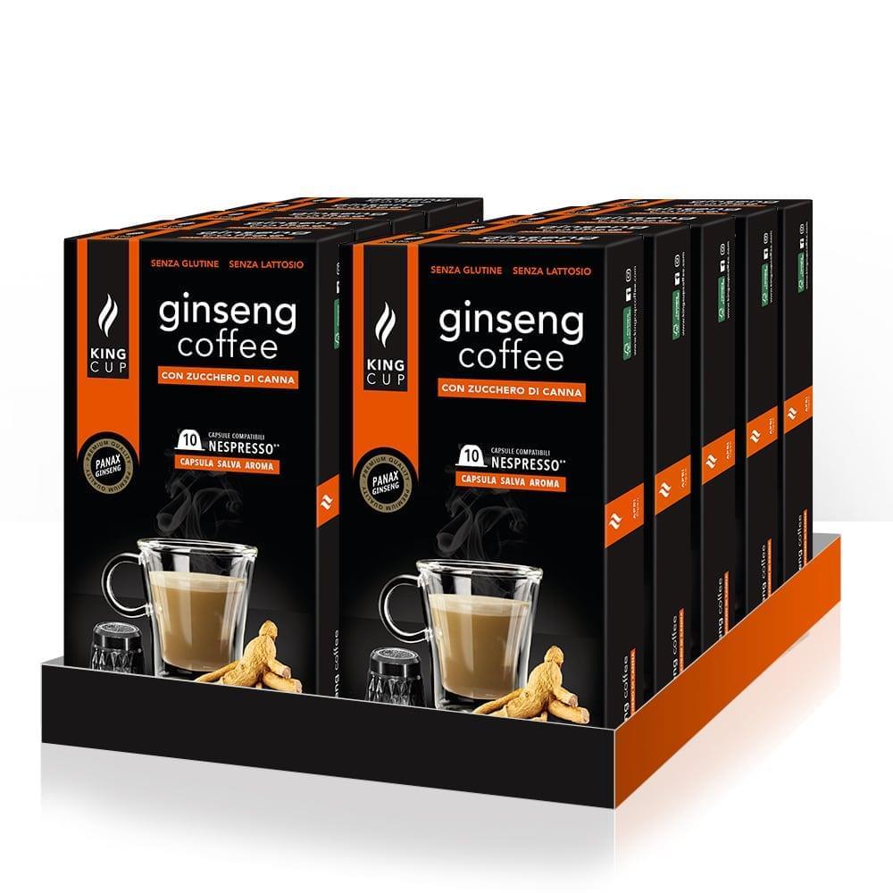 King Cup 120 capsule nespresso®* caffè al ginseng con zucchero di canna