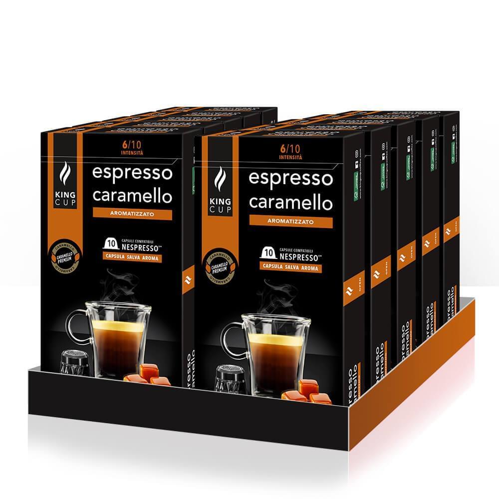 King Cup 120 capsule espresso con caramello