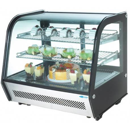 Vetrina refrigerata con luci a led 120 lt