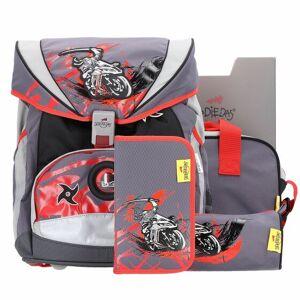 DerDieDas Ergo Flex zaino scuola e accessori (set 5 pz) ninja on bike