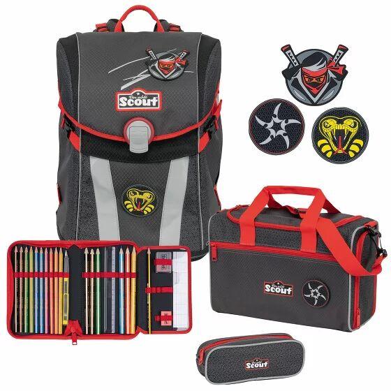 Scout Sunny Funny Snaps zaino scolastico con accessorio set di 4-pz. ninja star