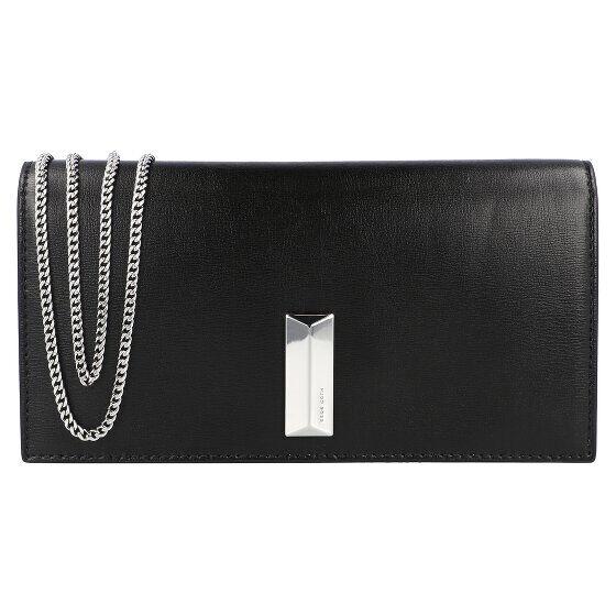 boss nathalie clutch portafoglio pelle 19,5 cm nero