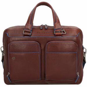 Piquadro Blue Square Special Ventiquattrore pelle 39 cm scomparto Laptop dark brown