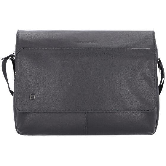Piquadro Black Square Messenger Borsa a tracolla pelle 37 cm scomparto Laptop
