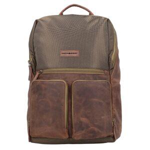 Greenburry Vintage Tec Zaino pelle 44 cm Scomparto Laptop brown/olive